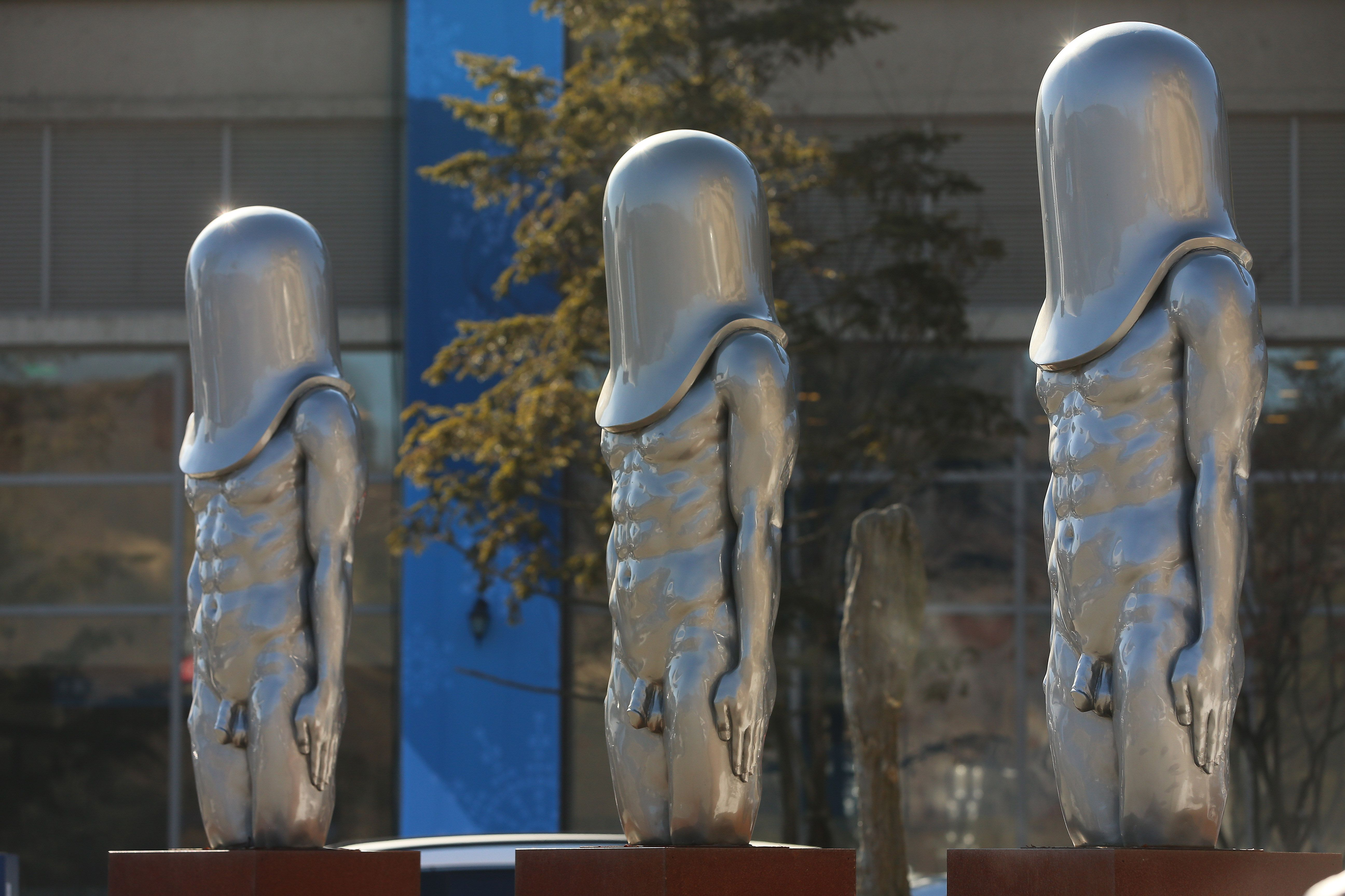 So, Uh, There Are 3 Very Prominent Penises on Display in the Olympic Village