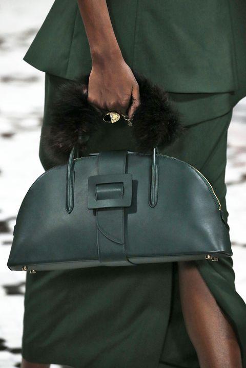 Bag, Green, Fashion, Shoulder, Handbag, Satchel, Street fashion, Leather, Outerwear, Fashion accessory,