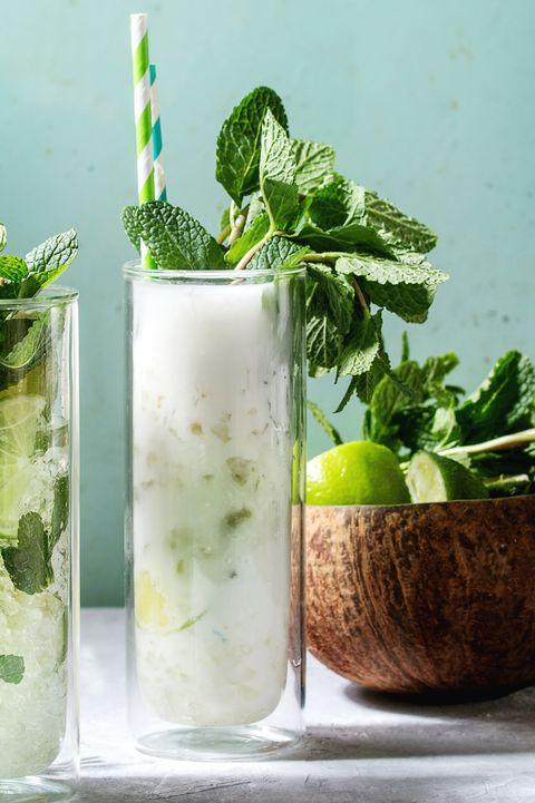 Mojito, Herb, Mint julep, Spearmint, Plant, Mint, Drink, Chervil, Basil, Lemon basil,