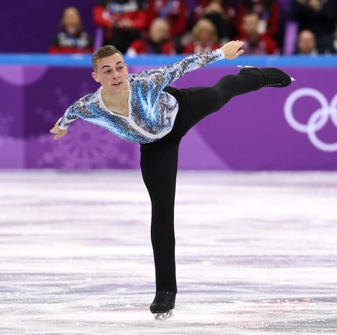gangneung, south korea   february 12  adam rippon of the united states competes in the figure skating team event – mens single free skating on day three of the pyeongchang 2018 winter olympic games at gangneung ice arena on february 12, 2018 in gangneung, south korea  photo by jamie squiregetty images