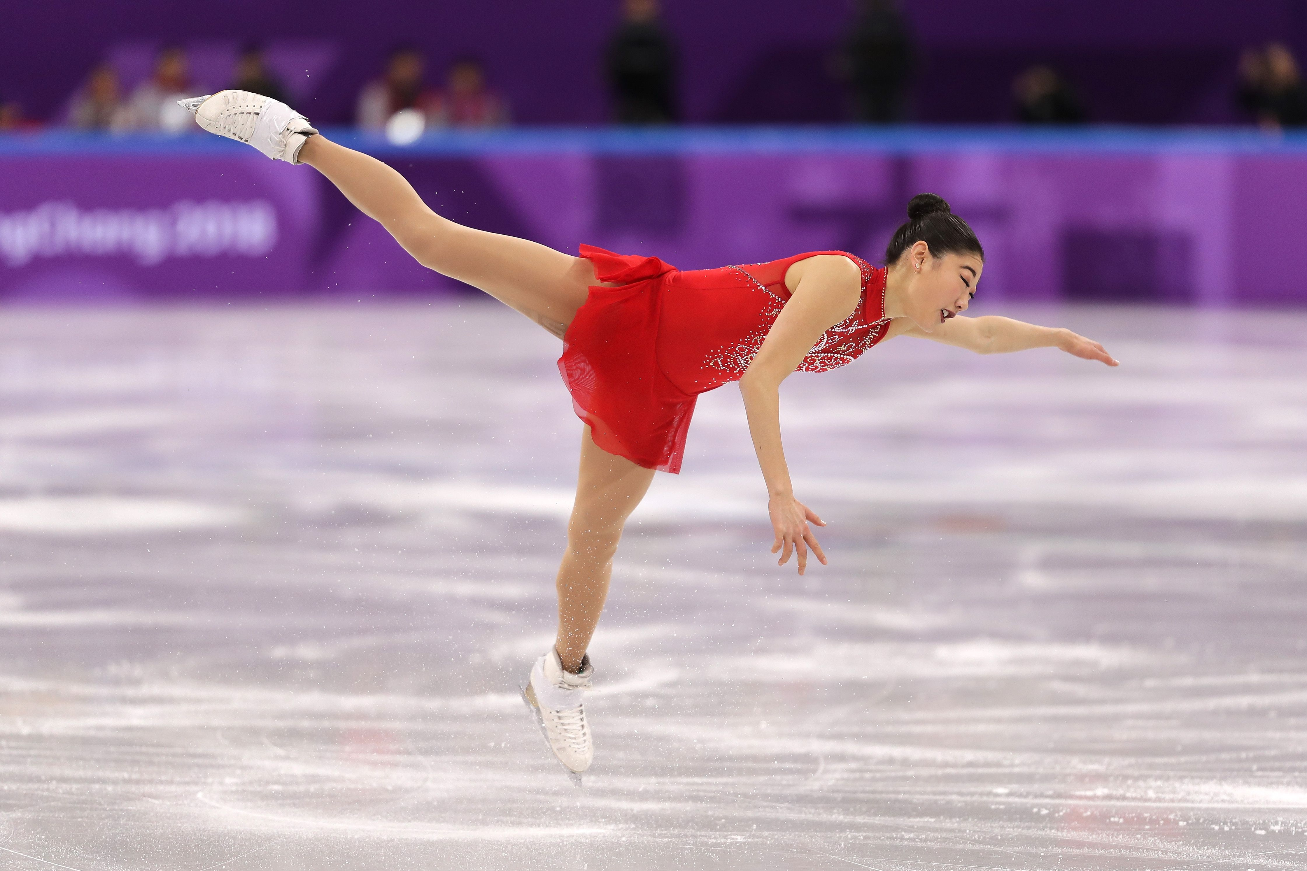 Mirai Nagasu landed a triple axel