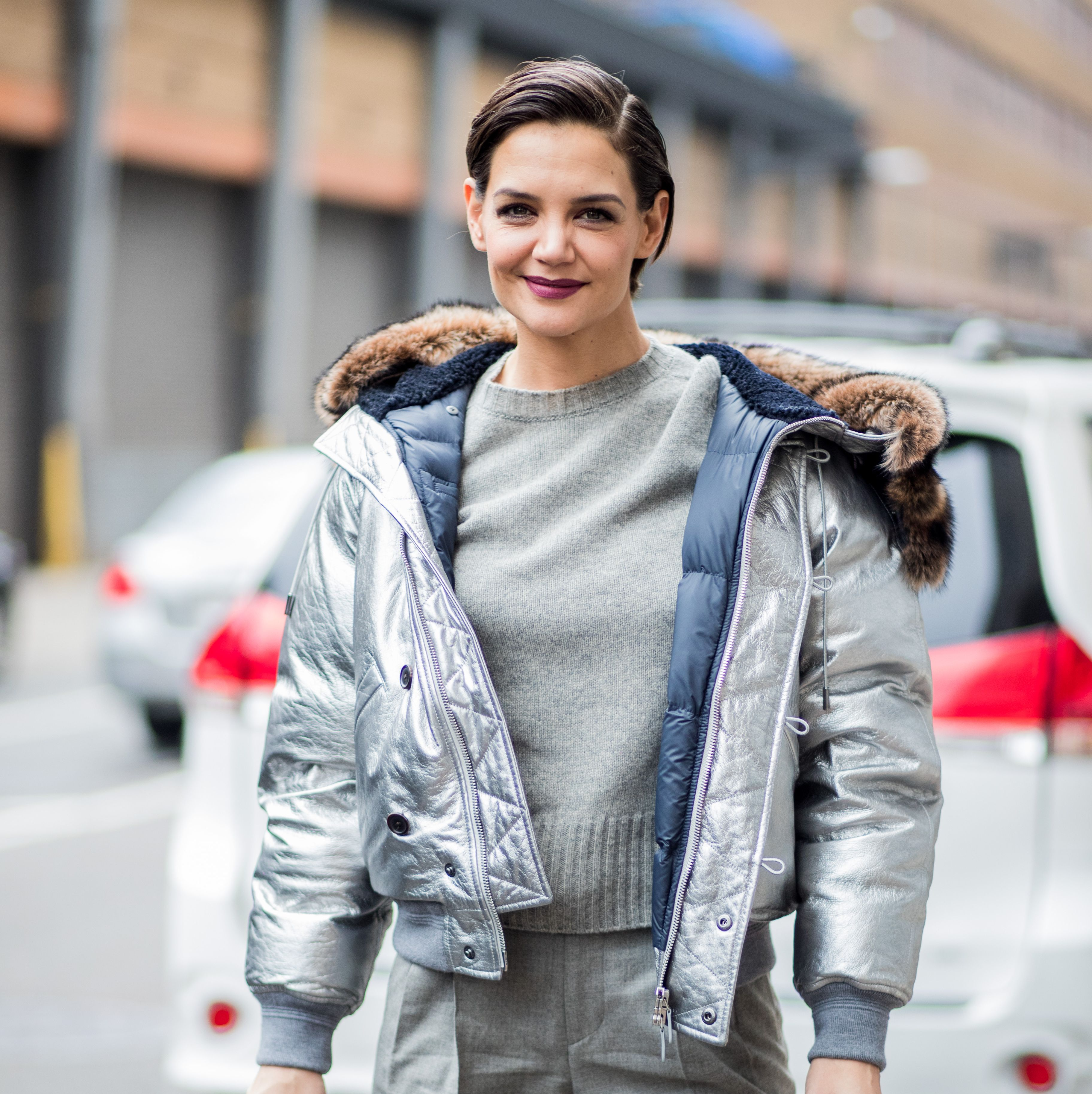 Katie Holmes Shares the Most Gorgeous Slow-Motion Video of Herself in a Snow Storm
