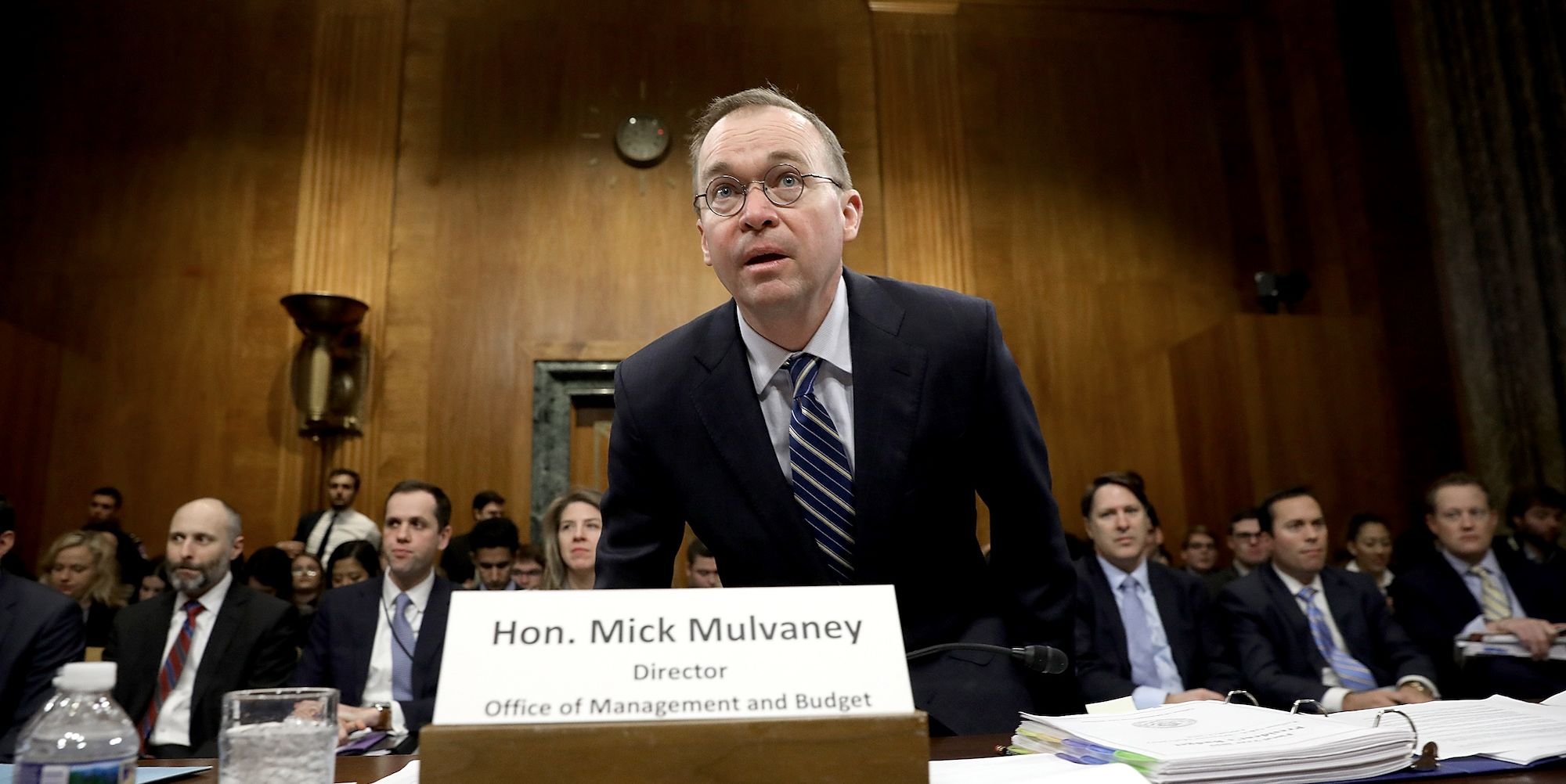 Office Of Management And Budget Director Mick Mulvaney Testifies To Senate Committee On Trump's FY2019 Budget