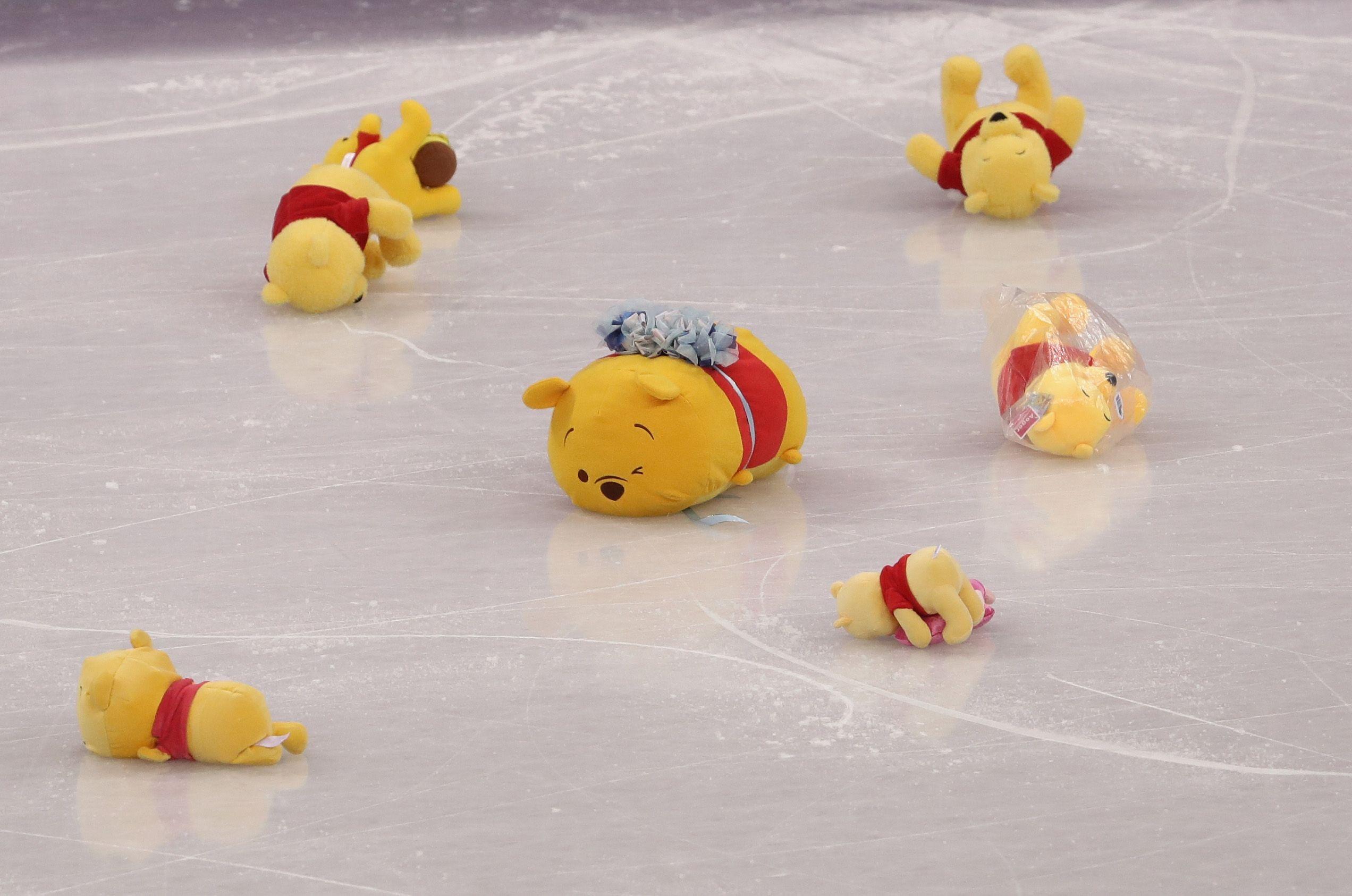 Winnie the Pooh on ice
