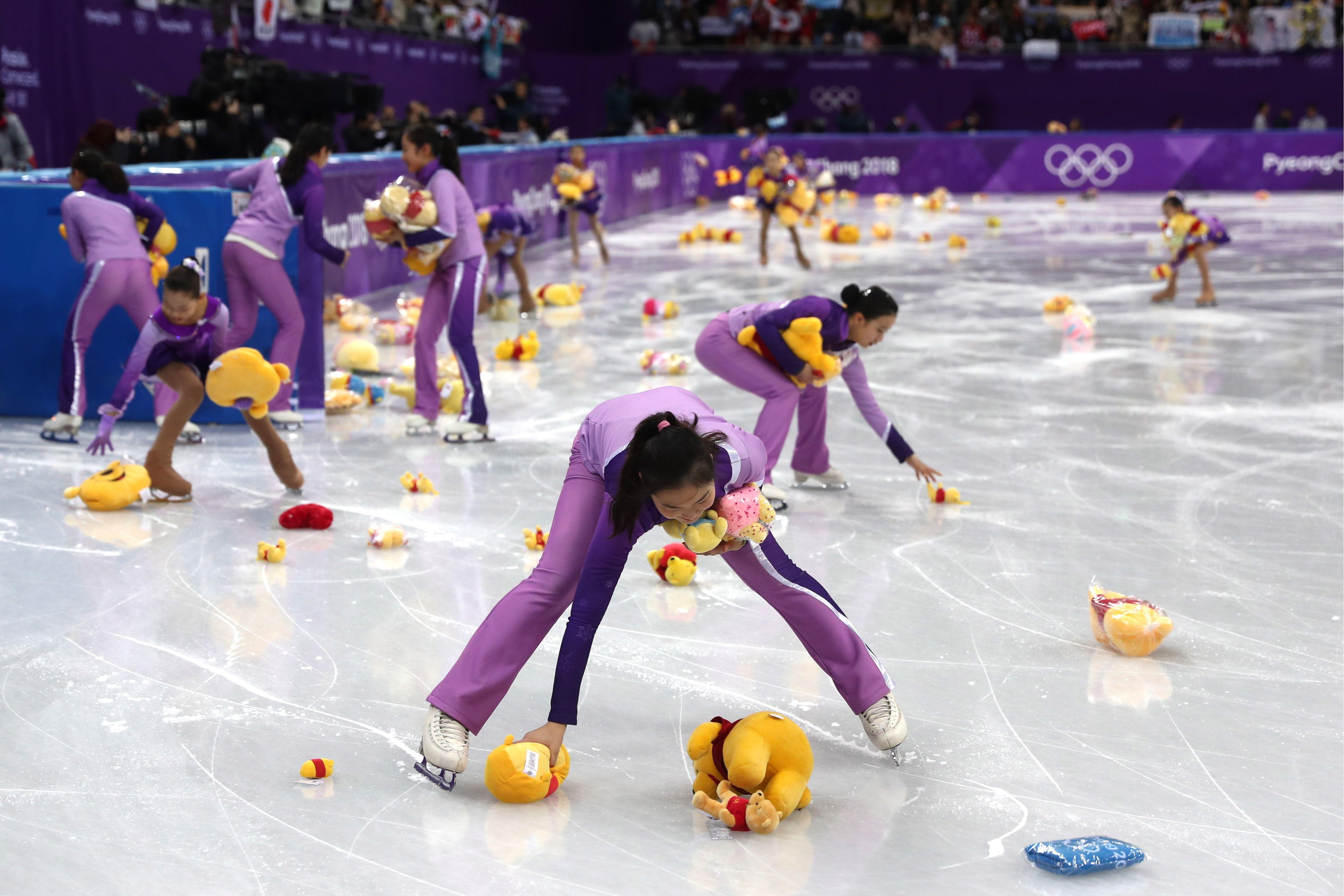 Winnie the Pooh figure skating