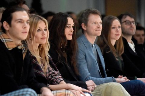 Christopher Bailey walked the runway at Burberry in London following the announcement that he's leaving the brand after 16 years as CEO