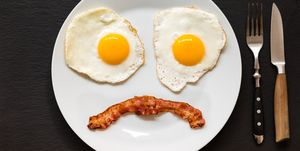 Sad Face Bacon and Eggs