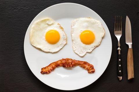 Sad Face Bacon and Eggs