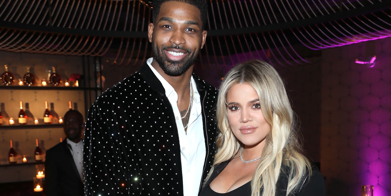 Tristan Thompson en Khloé Kardashian samen in 2018.