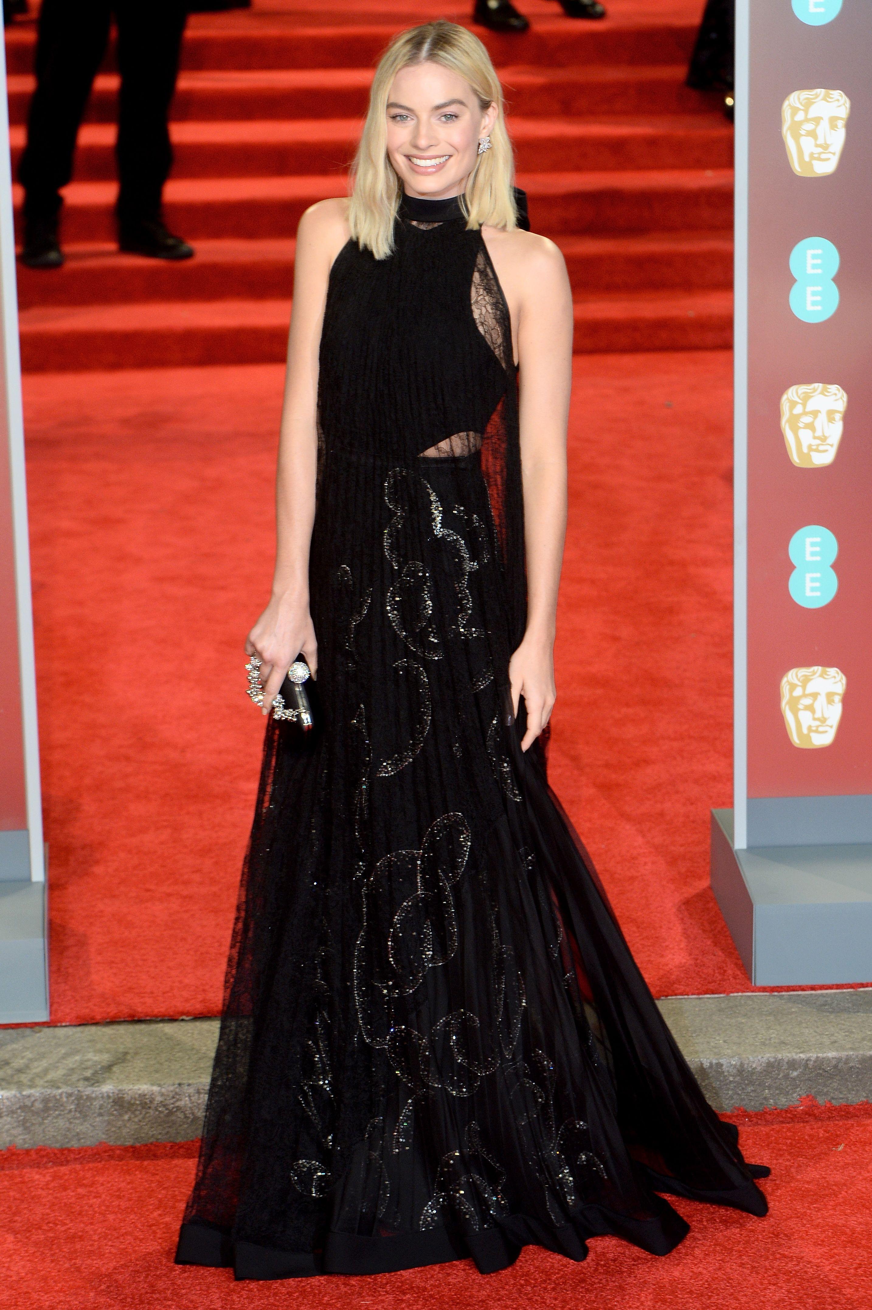 Margot Robbie  BAFTAs red carpet 2018