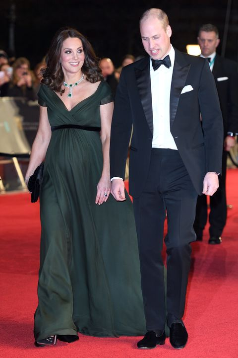 William and Kate at the BAFTAS 2018