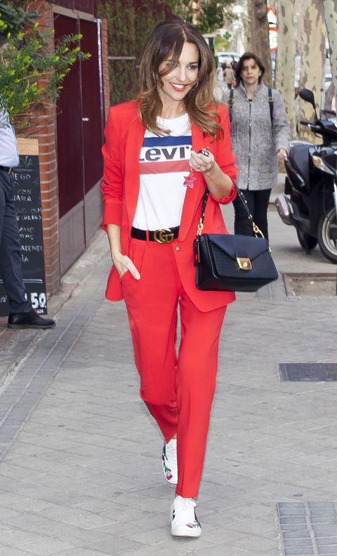 Clothing, Red, Street fashion, Fashion, Orange, Waist, Sportswear, Trousers, Electric blue, Leg,