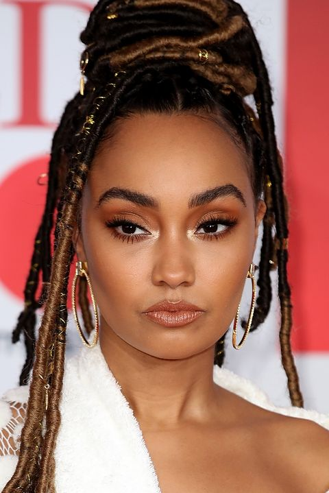 london, england   february 21   editorial use only in relation to the brit awards 2018  leigh anne pinnock attends the brit awards 2018 held at the o2 arena on february 21, 2018 in london, england  photo by mike marslandmike marslandwireimage