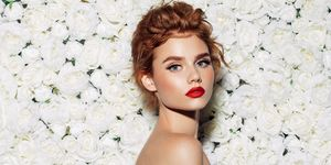 Red lipstick for brides