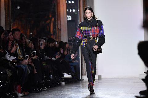Kaia Gerber on the Versace catwalk