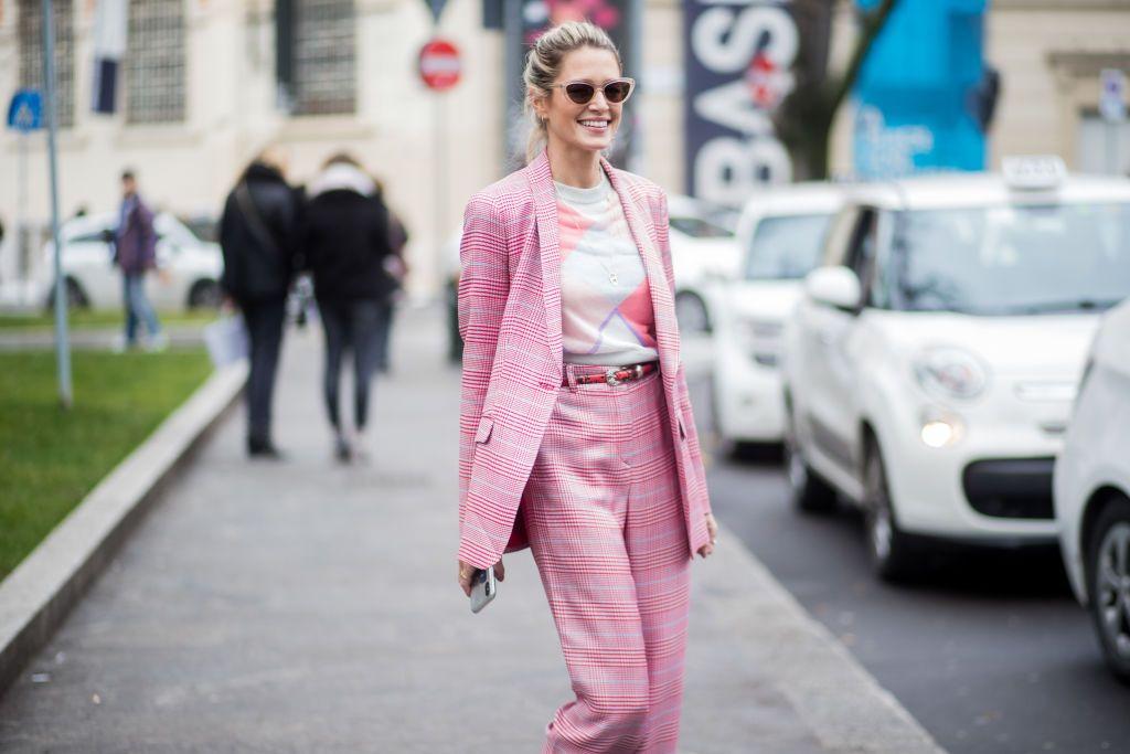 Traje chaqueta zara rosa