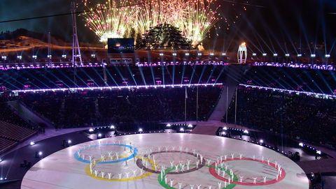 Landmark, Light, Lighting, Night, Sport venue, Arena, Purple, Fountain, Event, Stadium,