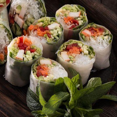 Dish, Food, Cuisine, Gỏi cuốn, Ingredient, Comfort food, Gimbap, Dim sum, Spring roll, Produce,