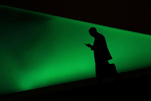 a man uses a smartphone on the first day of the mobile world congress mwc on february 26, 2018 in barcelona   the mobile world congress, the world's biggest mobile fair, is held in barcelona from february 26 to march 1 photo by pau barrena  afp        photo credit should read pau barrenaafp via getty images