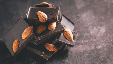 Still life photography, Almond, Chocolate, Food, Nut, Wood, Nuts & seeds, Toffee, Cuisine, Still life,