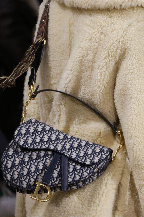 7bf5bfed34bb Dior Brought Back Logo Saddle Bag Fall 2018 - Dior Saddle Bags Early ...