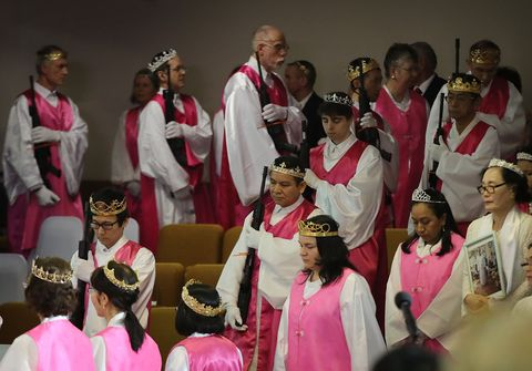 Event, Pink, Youth, Tradition, Performance, Gospel music, Choir, Music, Team,