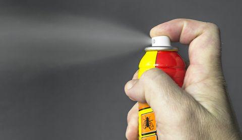 smoking bug spray