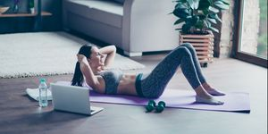abs workout at home, womens health uk