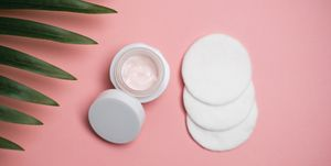 Face cream and cotton pad