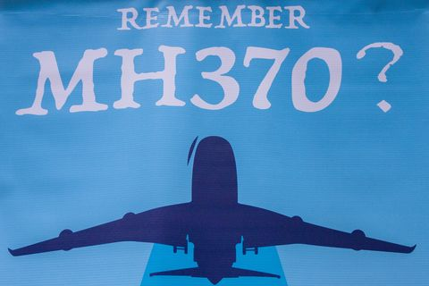 A MH370 poster seen at the 4th Annual MH370 Remembrance...