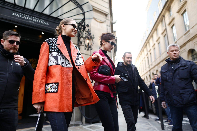 Gigi bella hadid PFW Street Style