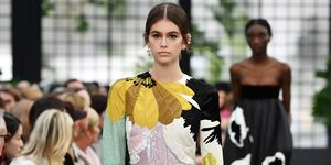 Kaia Gerber on the Valentino catwalk