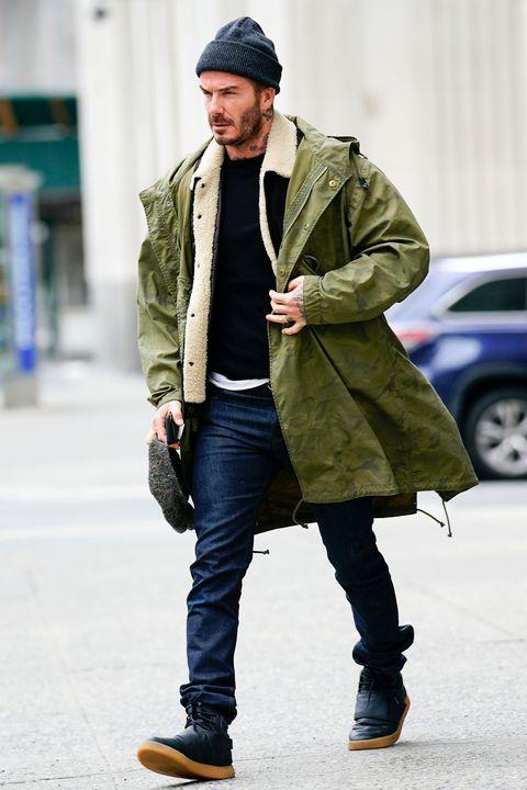 Clothing, Street fashion, Coat, Beanie, Fashion, Overcoat, Snapshot, Outerwear, Parka, Jacket,