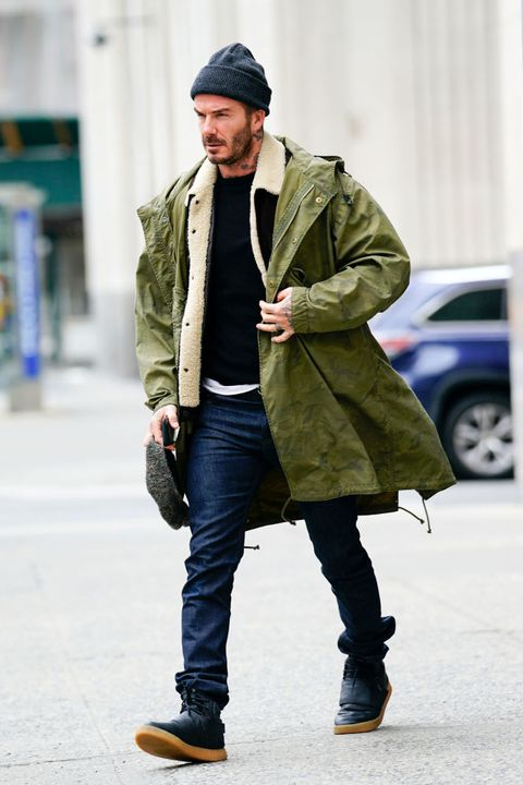 new york, ny   march 04  david beckham heads out for brunch on march 4, 2018 in new york city photo by gothamgc images