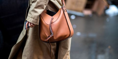 Bag, Brown, Handbag, Street fashion, Tan, Leather, Fashion accessory, Hobo bag, Shoulder, Footwear,