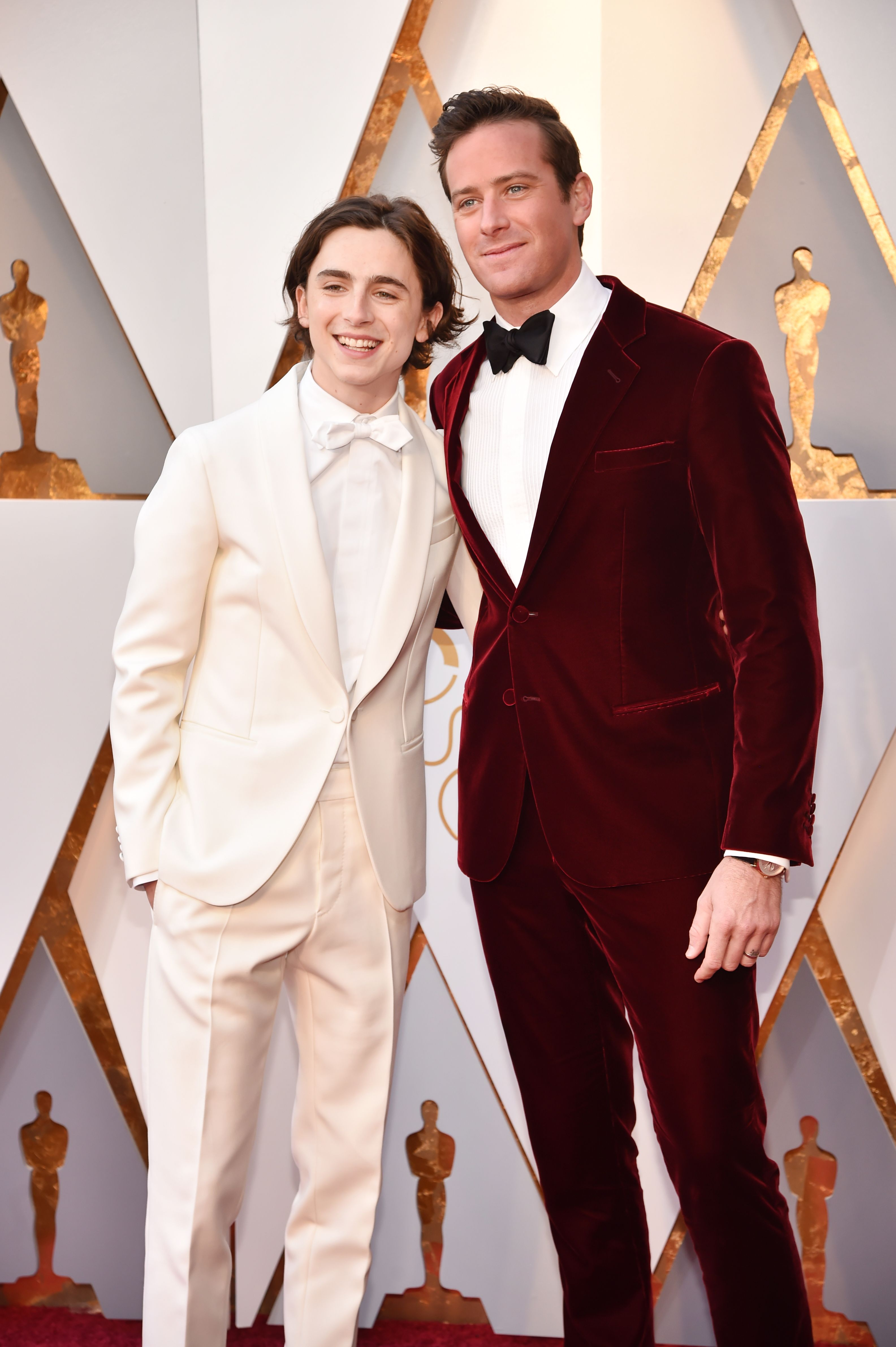 oscars 2018 Timothee Chalamet Armie Hammer