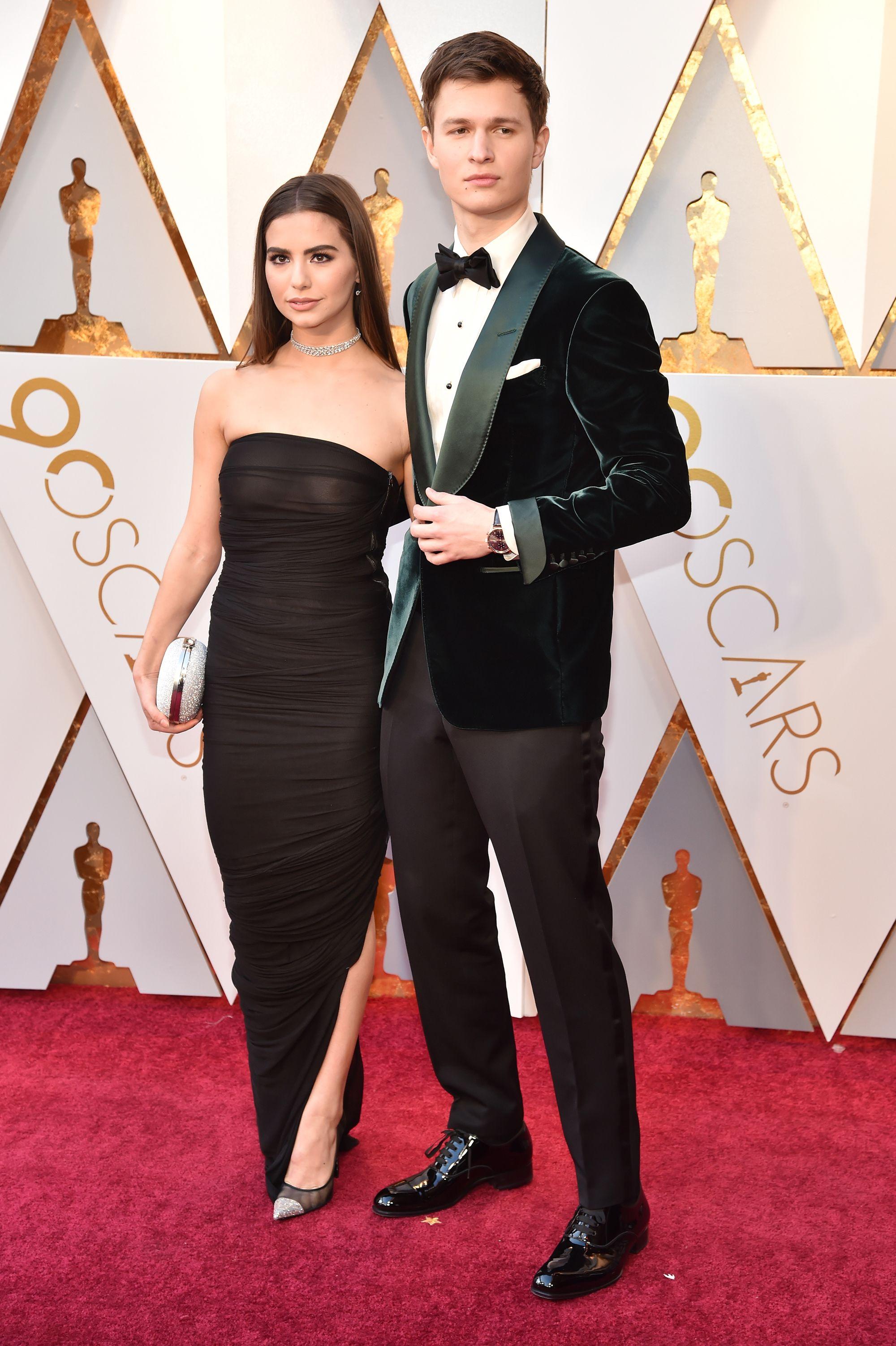 Ansel Elgort's Girlfriend Violetta Komyshan Had a Wardrobe Malfunction at the Oscars