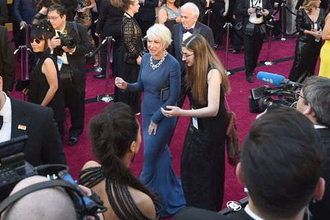 Helen Mirren did a shot of tequila on Oscars red carpet