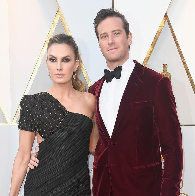 hollywood, ca   march 04  elizabeth chambers l and armie hammer attend the 90th annual academy awards at hollywood  highland center on march 4, 2018 in hollywood, california  photo by frazer harrisongetty images