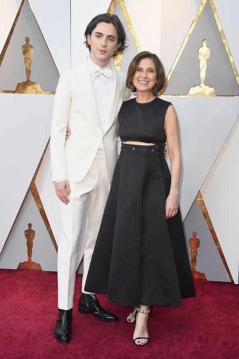 Timoth 233 E Chalamet Brought His Mom To The 2018 Oscars