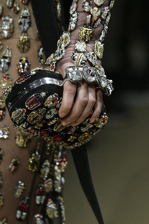 Fashion, Brown, Joint, Close-up, Hand, Dress, Fashion accessory, Fashion design, Jewellery, Nail,
