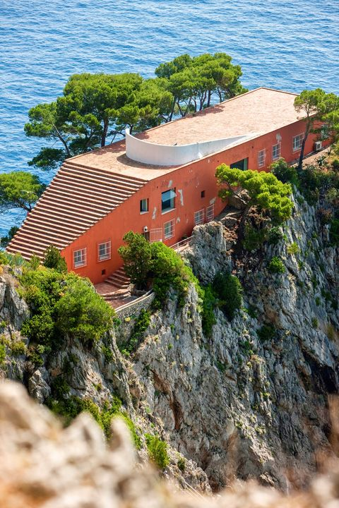 casa malaparte also villa malaparte is a house on punta massullo is an examples of italian modern architecture designed by curzio malaparte on the eastern side of the isle of capri island campania italy europe photo by carlo borlenghiredacouniversal images group via getty images