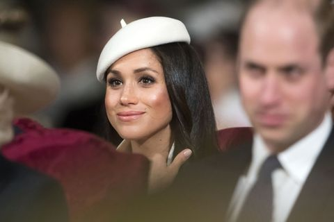 prince harrys fiancee, us actress meghan markle attends a commonwealth day service at westminster abbey in central london, on march 12, 2018 britains queen elizabeth ii has been the head of the commonwealth throughout her reign organised by the royal commonwealth society, the service is the largest annual inter faith gathering in the united kingdom  afp photo  pool  paul grover        photo credit should read paul groverafp via getty images