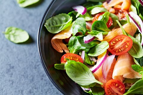 Dish, Food, Salad, Ingredient, Spinach salad, Vegetable, Cuisine, Leaf vegetable, Produce, Vegetarian food,