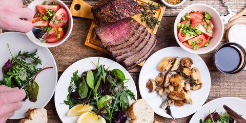 Food, Cuisine, Dishware, Meal, Ingredient, Dish, Tableware, Leaf vegetable, Produce, Plate,