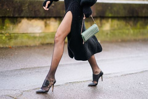 Black, Street fashion, Human leg, Footwear, Leg, Beauty, High heels, Snapshot, Fashion, Little black dress,