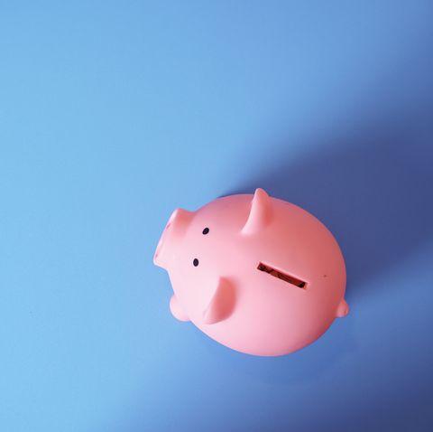Pink, Piggy bank, Domestic pig, Snout, Sky, Saving, Suidae, Cloud,