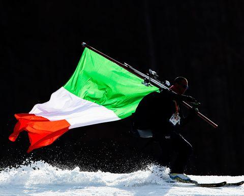 Green, Flag, Snow, Recreation, Winter,