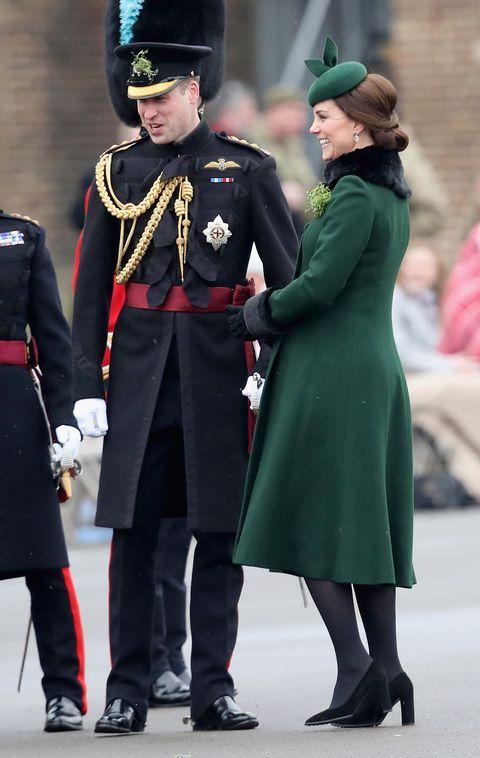 Duke and Duchess of Cambridge - St Patrick's Day parade