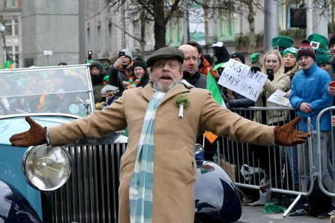 Holiday, Saint patrick's day, Event, Vehicle, Car, Crowd,